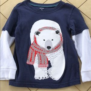 Carter's Polar Bear Holiday Christmas Shirt